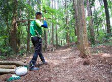 日本一周中、林業体験