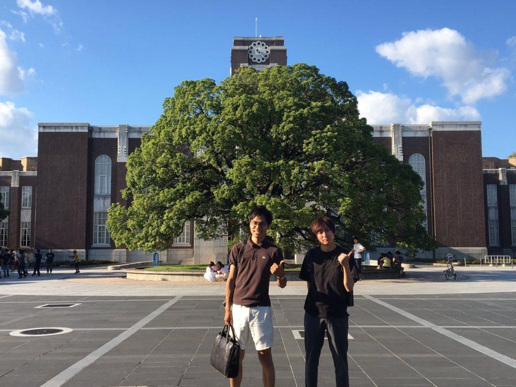 京都大学にて記念撮影